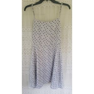 Lulus Spaghetti Strap Mini Floral Blue Dress